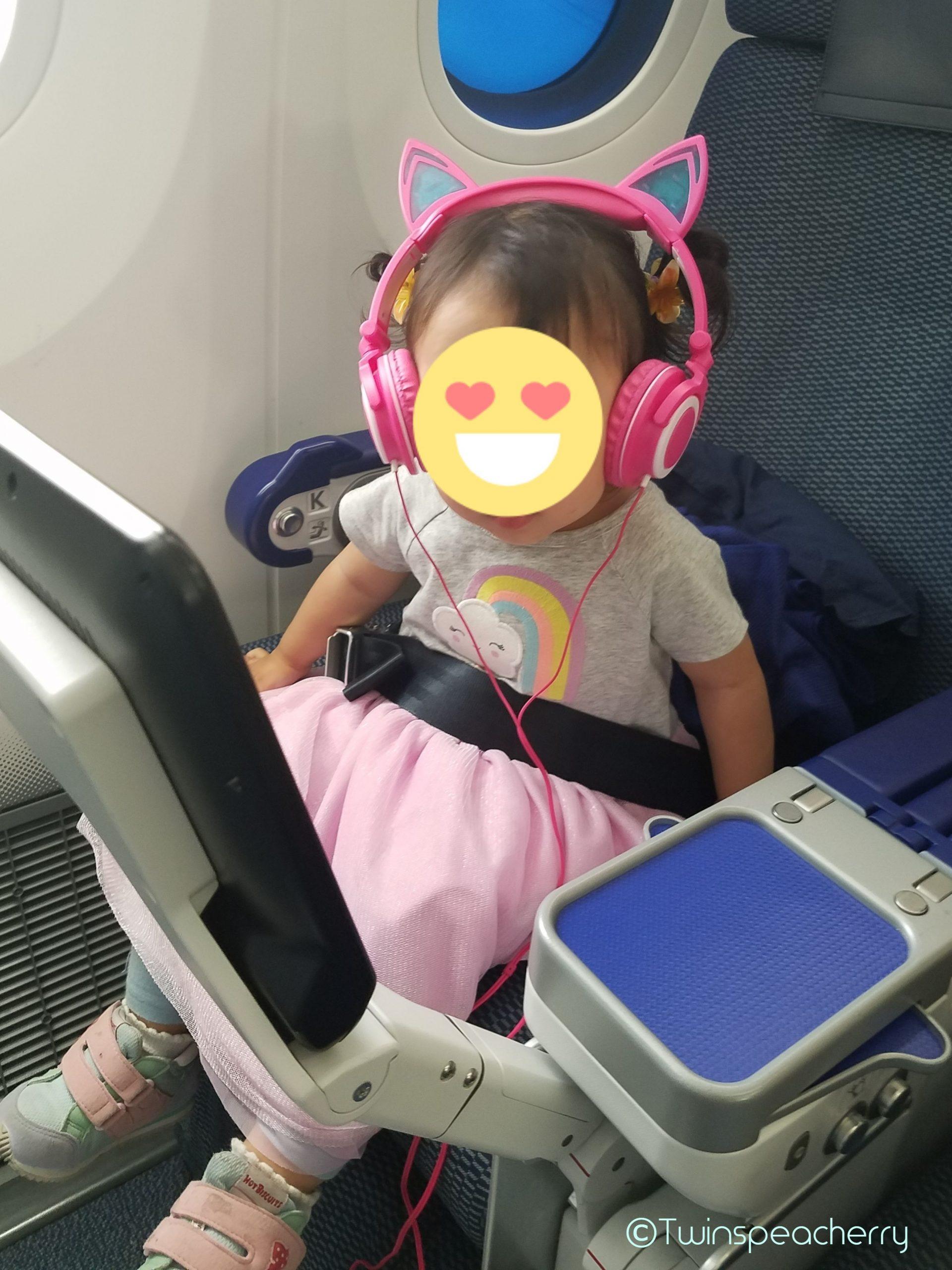 機内用子供用ヘッドフォン キュートな猫耳