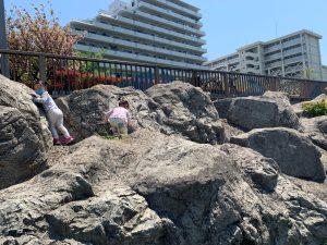 4歳双子と3密(密です)を避けてキックボードで散歩散歩-隅田川テラス周辺(相生橋‐越中島公園-大島川水門‐大横川‐越中島)