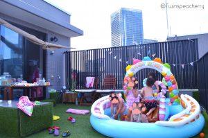 (過年度の写真)プールパーティ‐子供と楽しむルーフテラス(ルーフバルコニー/屋上)